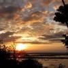 Ein Sonnenuntergang über dem Tonle Sap in Kambodscha