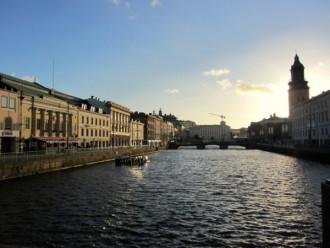 Das Zentrum vom Göteborg im Abendlicht