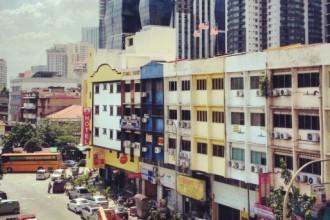 Blick auf Kuala Lumpur in Little India, Brickfields