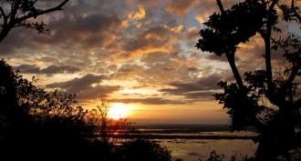 Sonnenuntergang über dem Tonle Sap