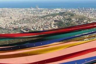 Blick auf Barcelona vom Tibidabo aus