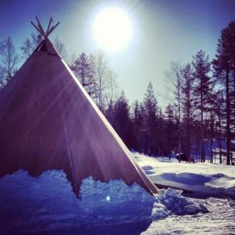 Sonne in Schwedisch Lapland