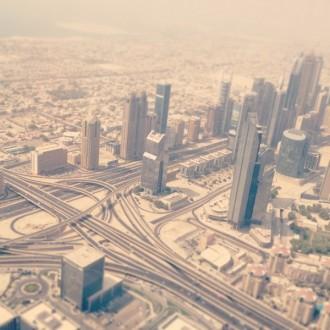 Blick vom Burj Khalifa Dubai