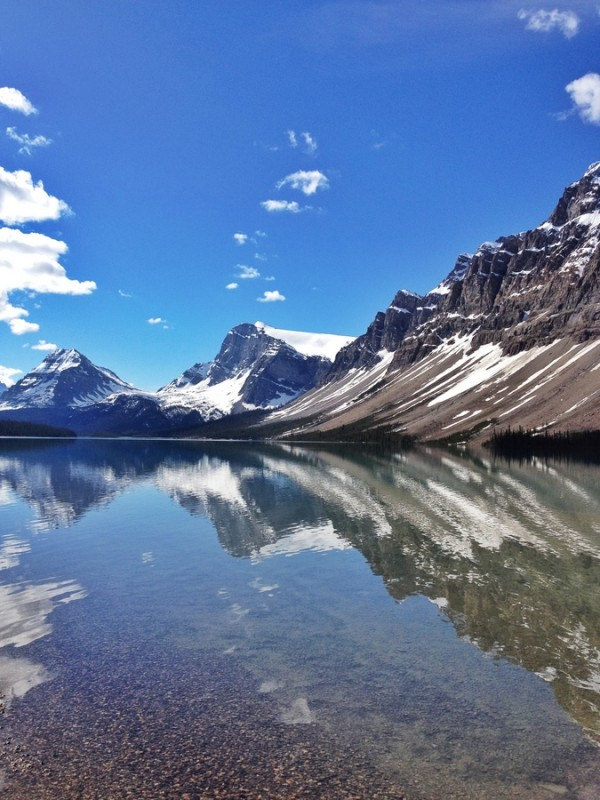 Bow Lake Reflections Kanada Rockies