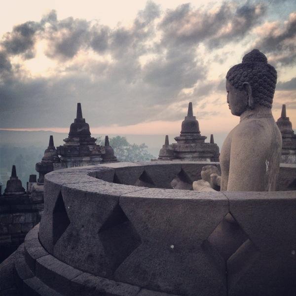 Buddha Borobodur Sonnenaufgang