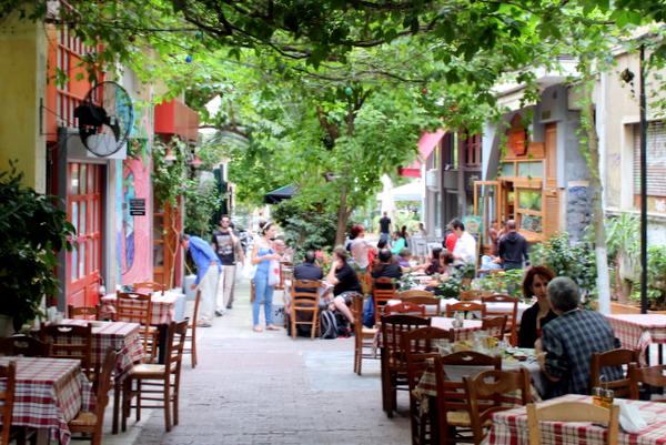 Exarchia Straßencafes Bars
