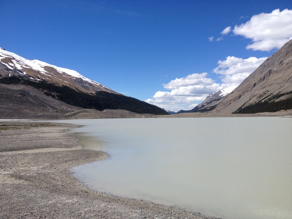 Gletschersee Columbia Icefield