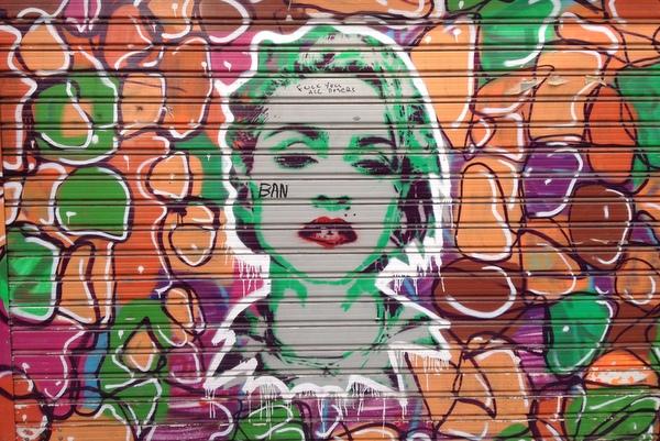 Streetart Athen Madonna