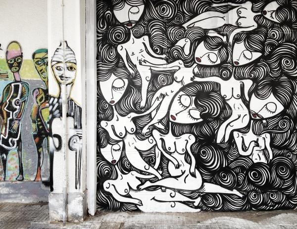 Streetart Athen Mural Sonke