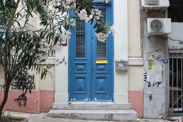 Tür Exarchia Athen