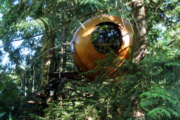 glamping im baumhaus auf vancouver island die free spirit spheres. Black Bedroom Furniture Sets. Home Design Ideas