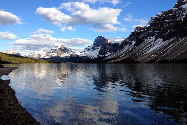 Bow Lake Banff Icefields Parkway Abendstimmung