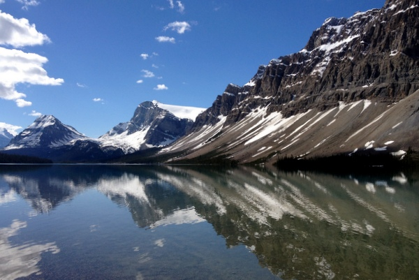 Bow Lake kanadische Rockies Banff Lake Louise