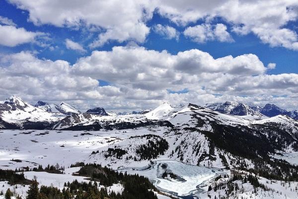 Sunshine Meadows Banff Panorama Wandern