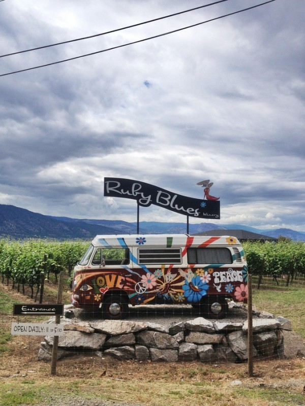 VW Bulli Ruby Blues Winery Penticton Naramata