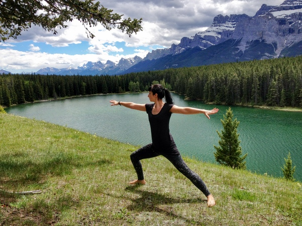 Yoga kanadische Rockies Banff