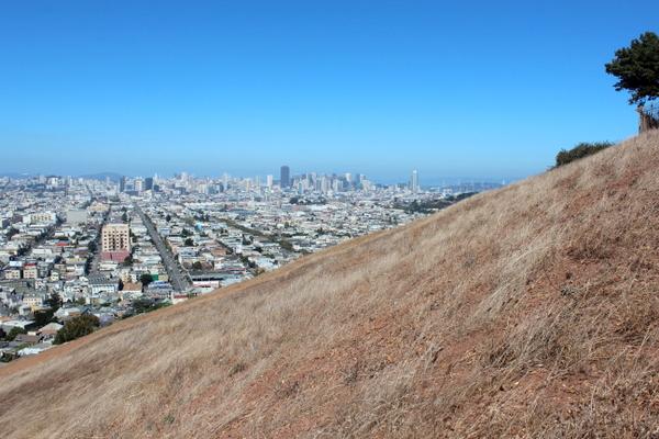 Blick auf San Francisco Bernal Heights
