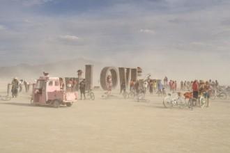Burning Man 2014 Love sign art installation