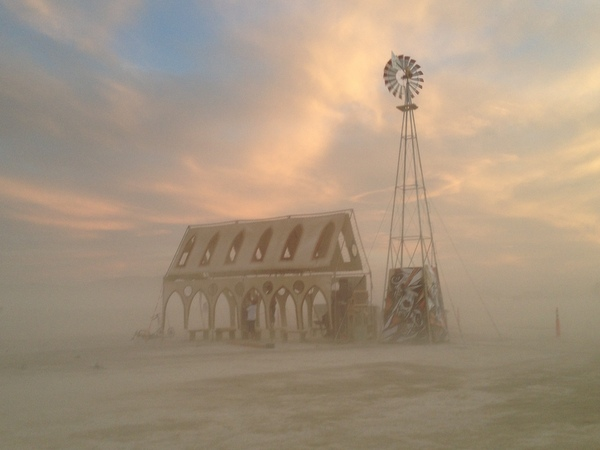 Church Kirche Art Installation Burning Man 2014
