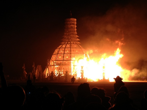 Temple Burn Burning Man 2014