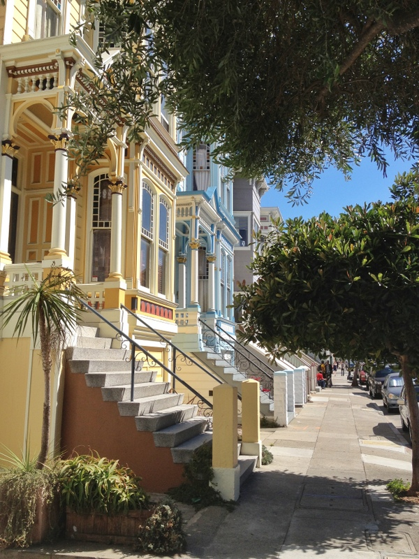 Viktorianische Häuser San Francisco Mission