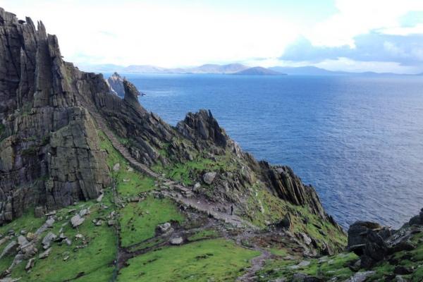 Skellig Michael Kerry Westküste Irland Blick von oben