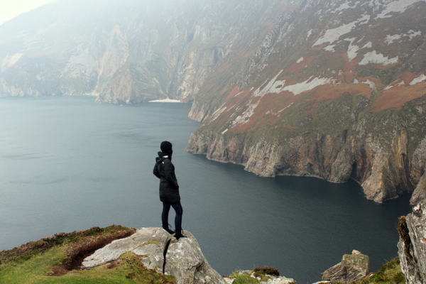 Slieve League Donegal Irland Black Dots White Spots