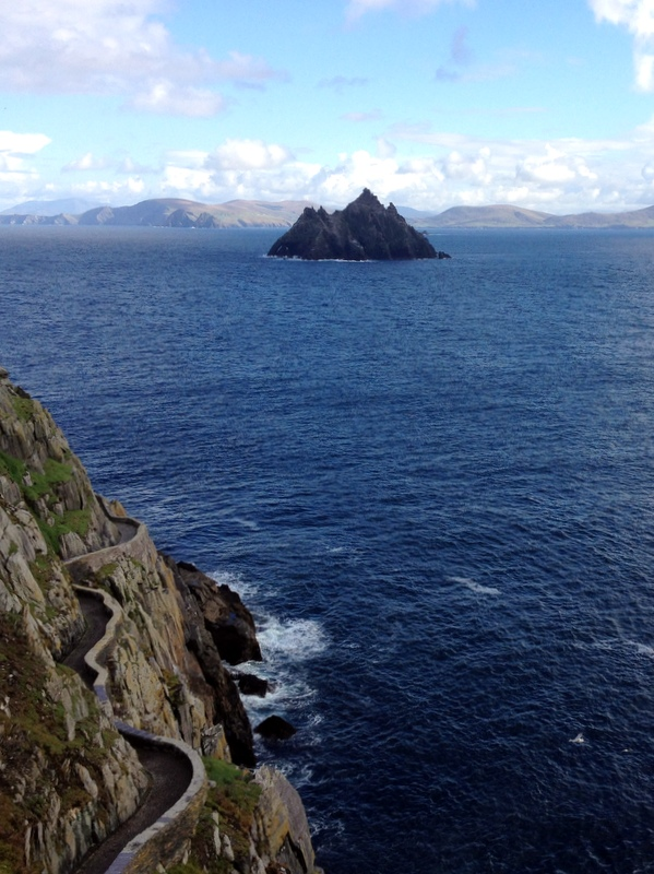 Weg am Fels Skellig Michael Kerry Irland