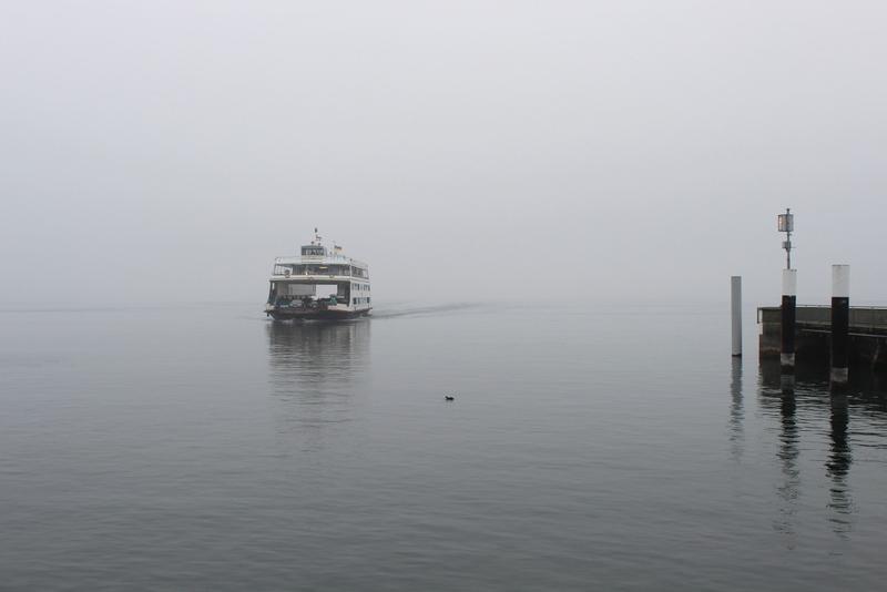 Bodensee Fähre Konstanz Meersburg Nebel
