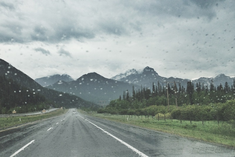 Fahrt von Calgary in die Rockies