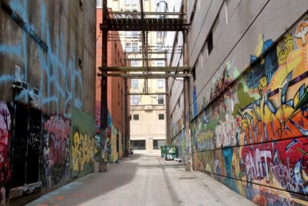 Graffitti Streetart Back Alley Downtown Vancouver