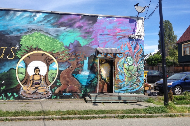 Vancouver Commercial Drive East End mural