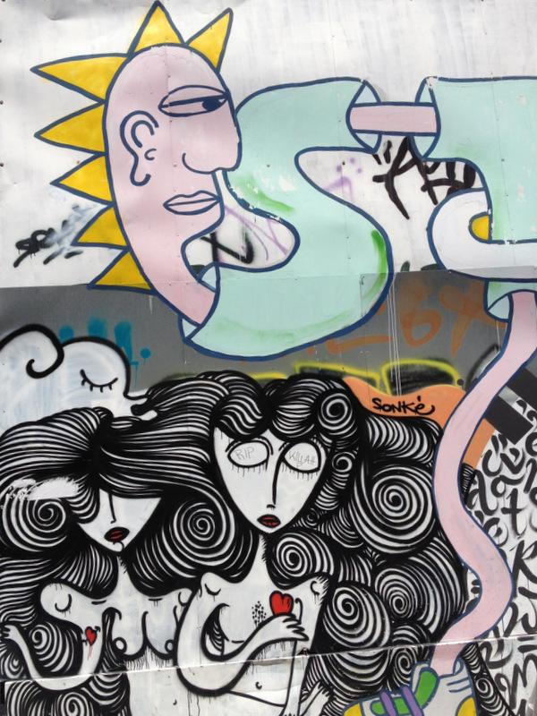 Streetart Athen Sonke Prinzessinnen