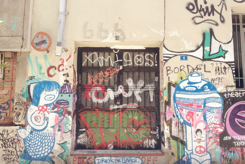 Streetart Graffiti Athen Dreyk the Pirate