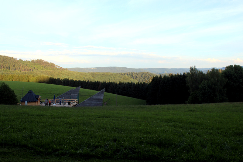 Äckerhof Schwarzwald Blick Abends