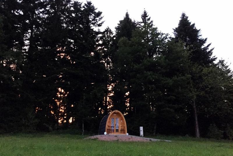 Podhaus Äckerhof Schwarzwald Sonnenuntergang