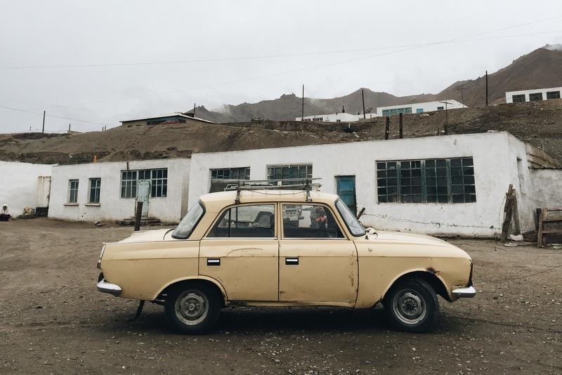 Altes Auto Pamir Highway Tadschikistan Murghab