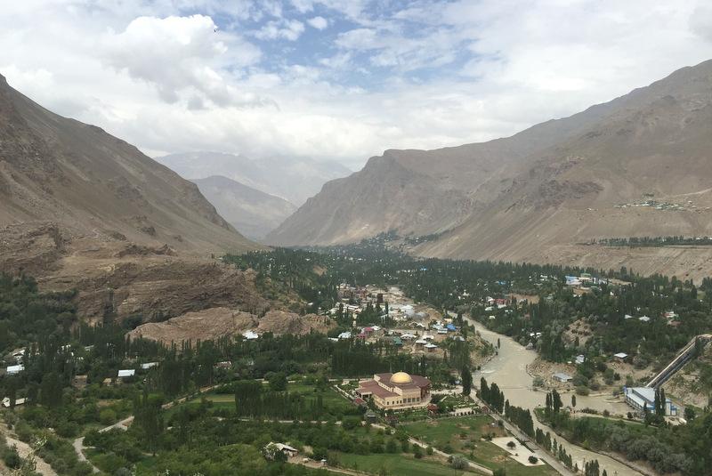 Blick auf Khorog Pamir Tadschikistan