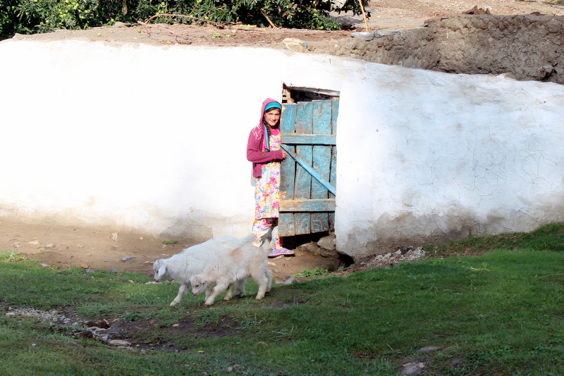 Mädchen mit Ziegen Wakhan Corridor Pamir Tadschikistan