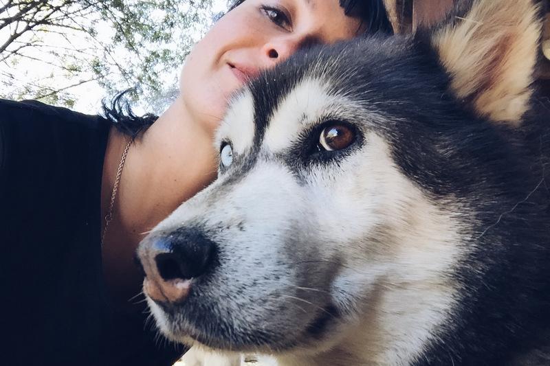 Selfie mit Husky Angerberg