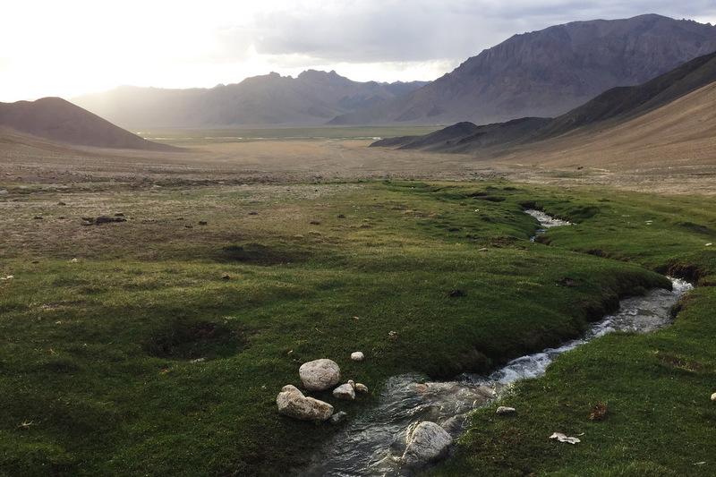 Sonnenuntergang Baschgumbez Pamir Highway