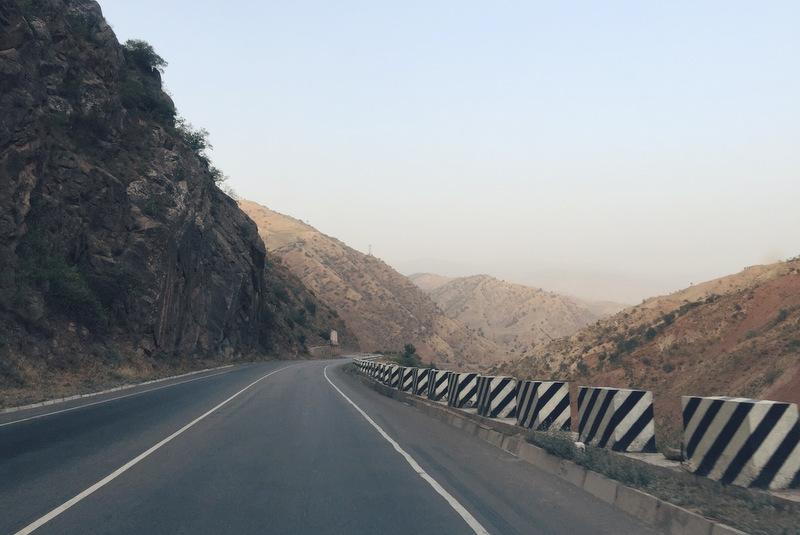 Straße Tadschikistan Dushanbe Khulob