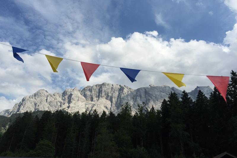 Eibsee Blick auf Berge