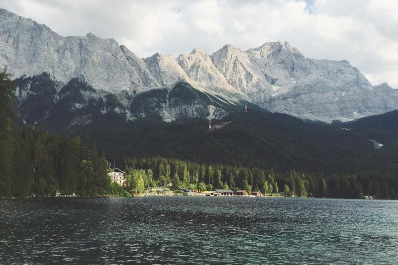 Eibsee Blick auf Zugspitze