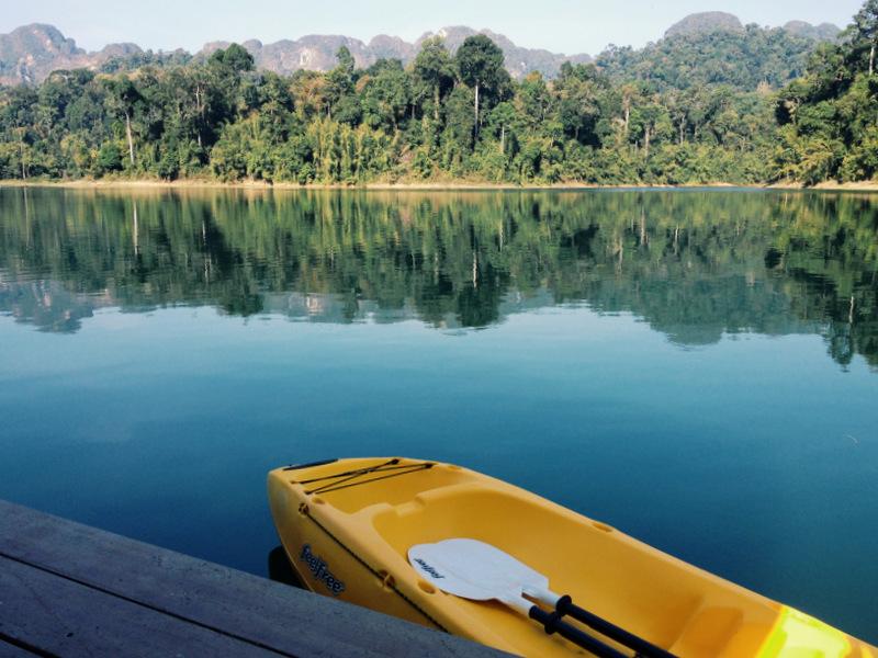 Khao Sok Nationalpark Thailand schwimmende Unterkunft auf dem See