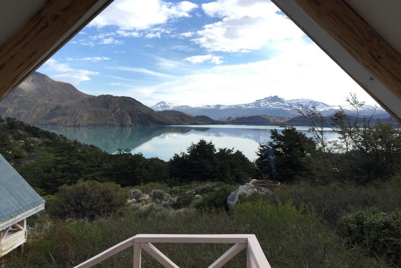 Blick aus Cabana Refugio Los Cuernos Hütte Torres del Paine