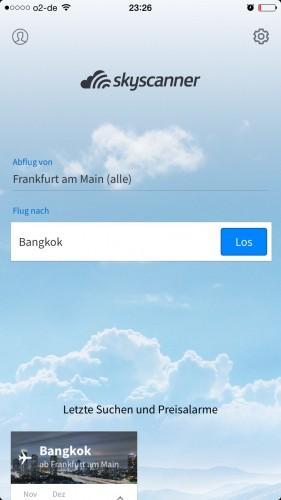 Flüge finden Skyscanner App