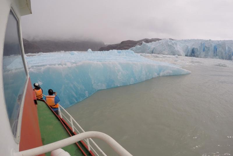 Boot Gletschersee Glacier Grey Eisberg