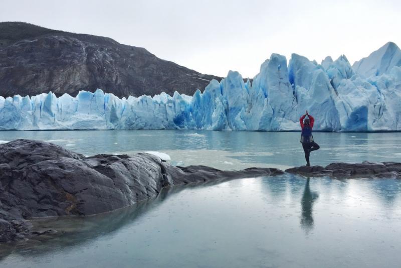 Glacier Grey Kajaken Torres del Paine Patagonien