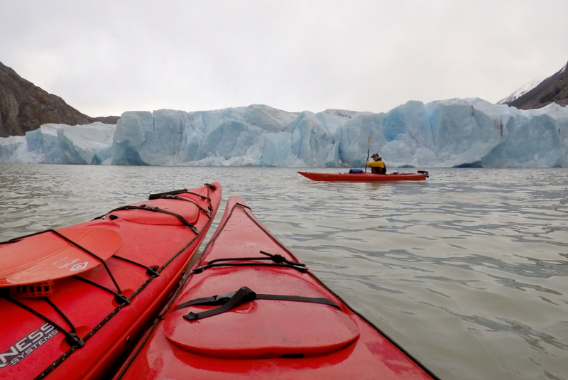 Gletscher Kajaken Torres del Paine Glacier Grey
